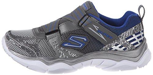 Skechers Kids Neutron Super Z Closure Sneaker (Little Kid), GunmetalBlue, 13.5 M US Little Kid